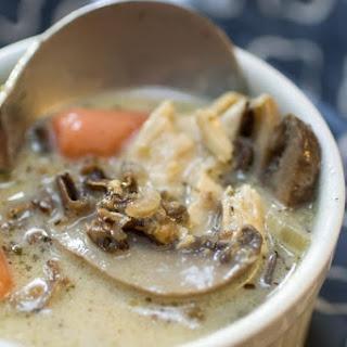 Creamy Chicken Mushroom Wild Rice Soup.