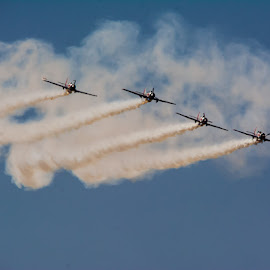 Line formation by Vijayanand Kandasamy - Transportation Airplanes ( plane, airshow, aeroindia, airplane, flying, aircraft )
