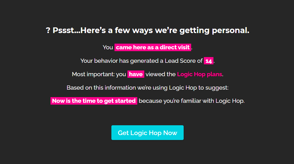 Logic Hop data profile demo