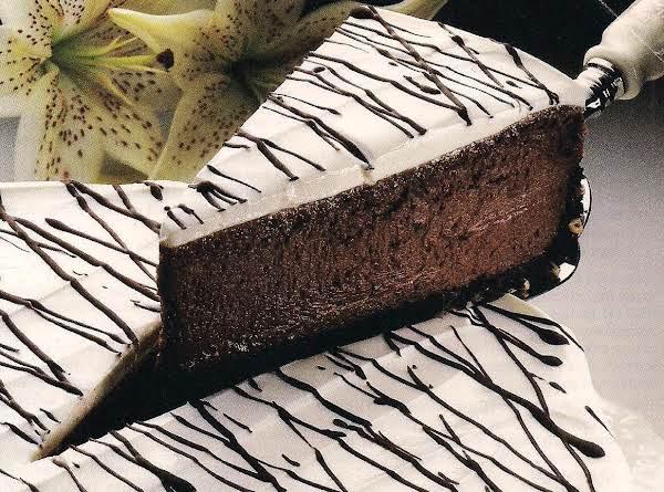 Chocolate Lace Cheesecake