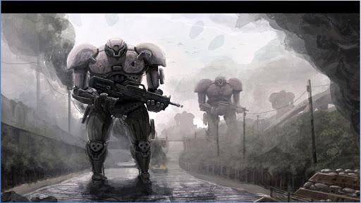 ロボットSciFi壁紙