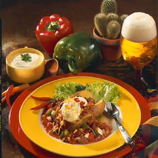 Baked Potatoes with Beef and Vegetable Chili.