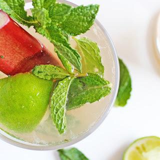 Rhubarb Vanilla Mojito Mocktail