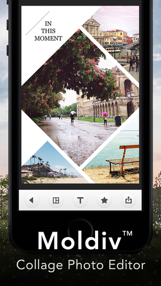 Moldiv: An all-in-one photo editing, collage and beauty app.