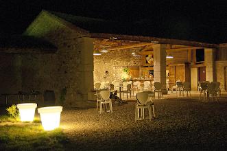Foto: vue de la terrasse le soir