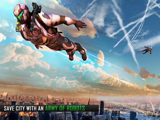 Robot volar Grand City Rescate Juegos (apk) descarga gratuita para Android/PC/Windows screenshot