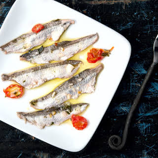 Boquerones, Fresh Cured Anchovies.