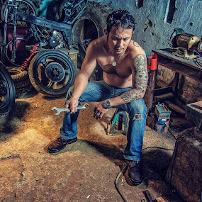 workhorse by Vantodes . - Professional People Factory Workers ( art people-tattoo-factory )