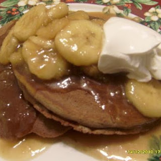 Choco-Pancakes With Banana Caramel Sauce