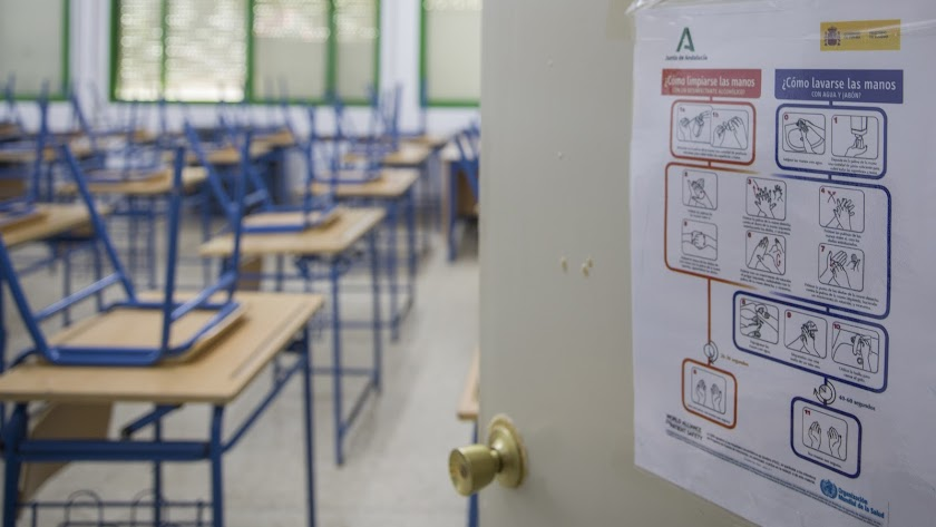 Imagen de archivo de un aula de Andalucía.