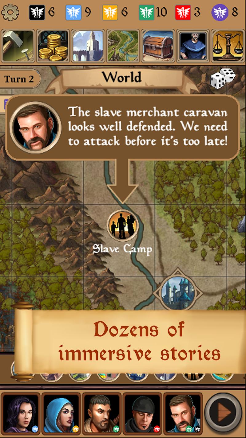 Silmaris - strategic boardgame and text adventures Screenshot 2