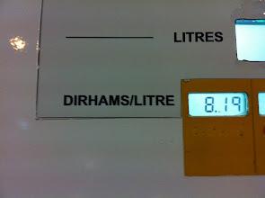 Photo: Environ 0,80€ le litre de GO au 6/10/2012