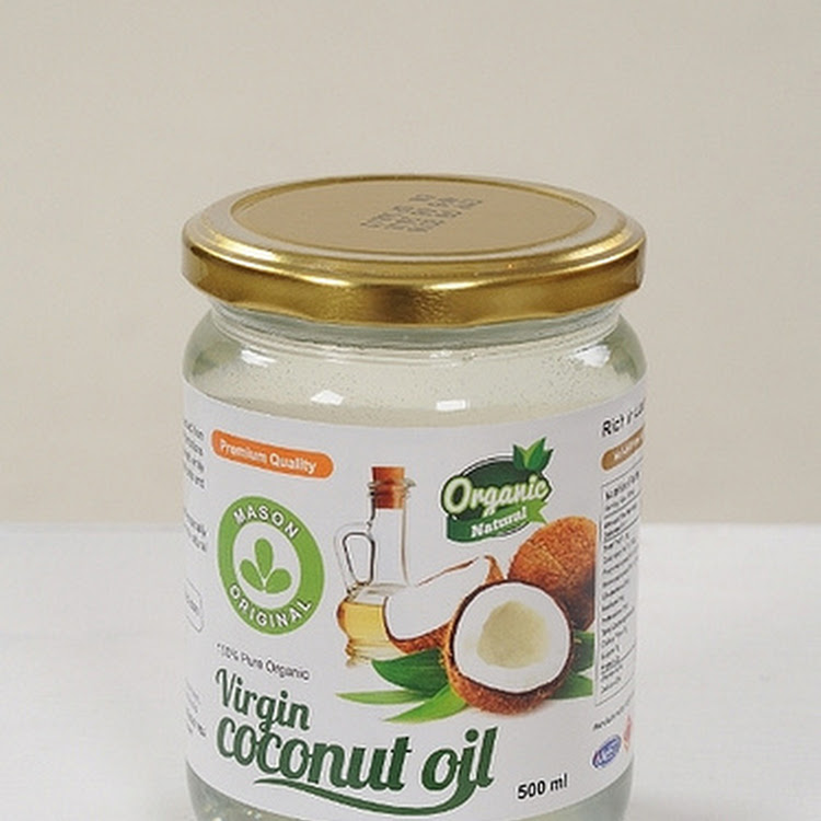 Mason Original Virgin Coconut Oil ( 500ml wide mouth glass jar ) by The Health Story Enterprise
