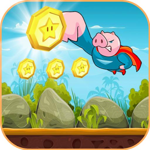 Hero Pig Jungle Run