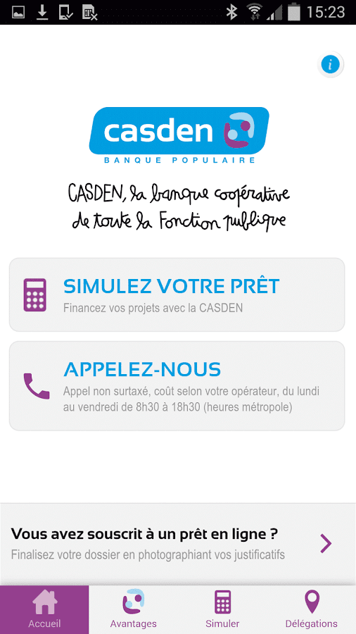 Casden banque populaire android apps on google play - Pret d union pieces justificatives ...