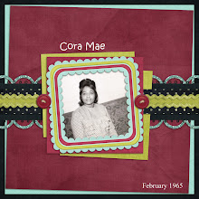 Photo: This is my grandmother, Cora Jean Lawhorn Koonce (1932-2006).  The design is a quickpage by Lukasmummy called Retail Therapy (http://www.lukasmummy.blogspot.com/).