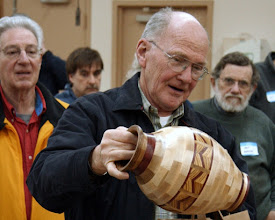 Photo: Stan Sherman is in his element making segmented vessels.  Here's his latest gem.