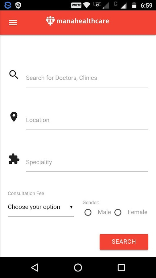 Manahealthcare - Search Doctors, Book Appointments- screenshot