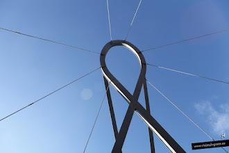 Photo: El lazo en recuerdo al SIDA, al cáncer de mama y a la unión.