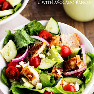 Cajun Chicken Salad with Avocado Ranch Dressing.