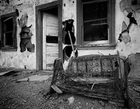 Photo: The Porch Swing  When we go back to Death Valley, I'm going to make a hit list of abandoned homesteads that we can go hunt for, they are sets waiting for you to shoot them.  There was some sort of hashtag for decay photos but I can't remember which day they were for.  #DV2011 #DV2011_Ricardolagos #MonochromeMonday