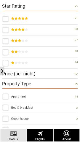 android Lisbon Hotels and Flights Screenshot 2