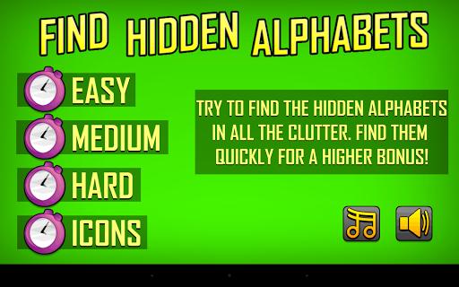 Find Hidden Alphabets
