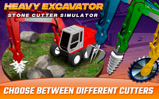 Heavy Excavator  Stone Cutter Simulator 1.0 screenshots 2