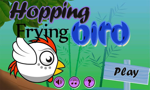 Hopping Flying Bird