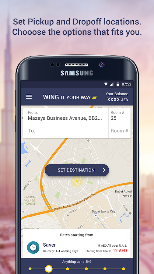 Wing - Book a Courier Delivery- screenshot