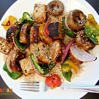 Tempeh and Vegetable Skewers – #glutenfree #thinkingofsummer