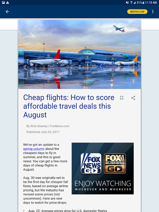 Fox News – Breaking News, Live Video & News Alerts- screenshot