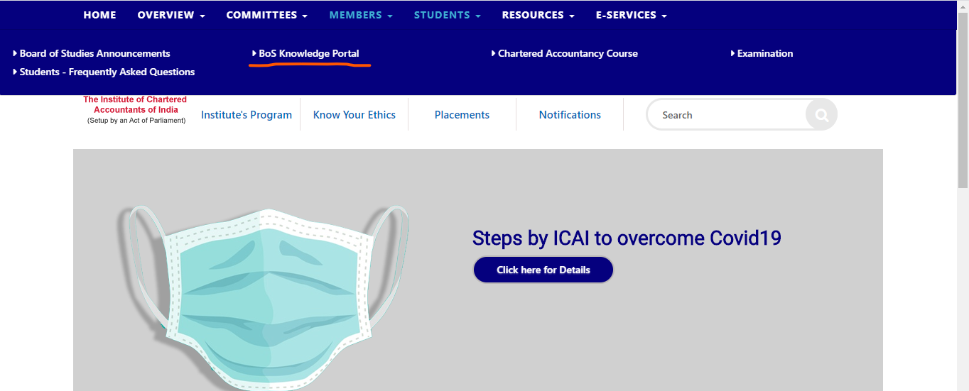 Download CA Foundation Previous year paper from ICAI website