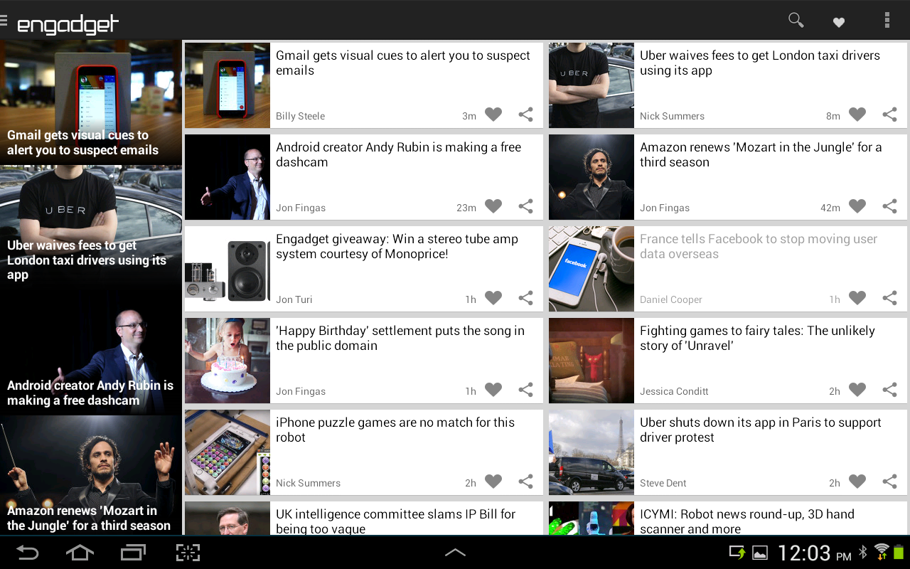 Engadget- screenshot