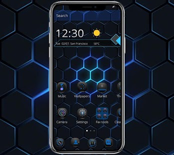 Black Blue Cool Theme - náhled