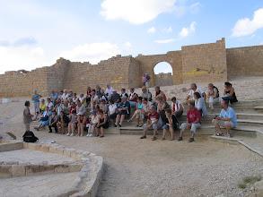 Photo: Désert du Negev : site d'Avdat (au 1er plan des salles de stockage du raisin pour le pressoir à vin)