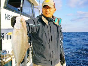 Photo: 最近、タイミングが合わず久しぶり?のご乗船の野田番長! プリプリのネリゴゲットです!