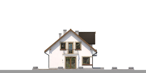 Dom przy Alabastrowej 41 - Elewacja lewa