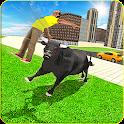 Wild Bull Attack Simulator - City Rampage 2019 icon