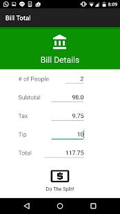 Bill Splitter screenshot
