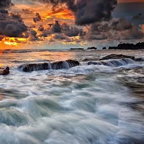 Sunset stream by Hendri Suhandi - Landscapes Beaches ( bali, sunset, beach )