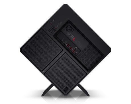 HP Omen X Desktop: máy bàn chơi game hình khối vuông, gắn được 2 card đồ họa, có bán riêng thùng máy