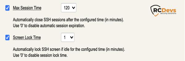 Durée de session maximale pour la sécurisation du serveur SSH