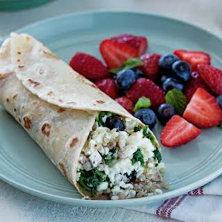 Vegetarian Breakfast Grains Salad Burrito.