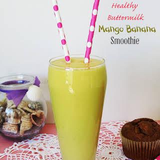 Healthy Buttermilk Mango Banana Smoothie.