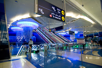 Photo: Dubai Metro station. Everything was still very clean and shiny