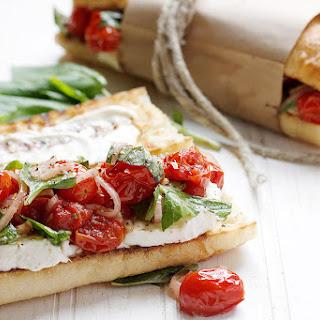 Blistered Tomato Caprese Sandwich