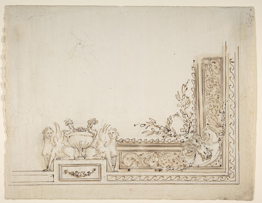 Design for One-Quarter of a Ceiling Decoration