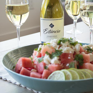 Estancia Watermelon Feta Summer Salad with Estancia Chardonnay