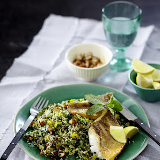 Pan Seared Fish with Couscous Salad